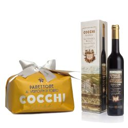 Cocchi Vermouth Venaria Reale con Panettone